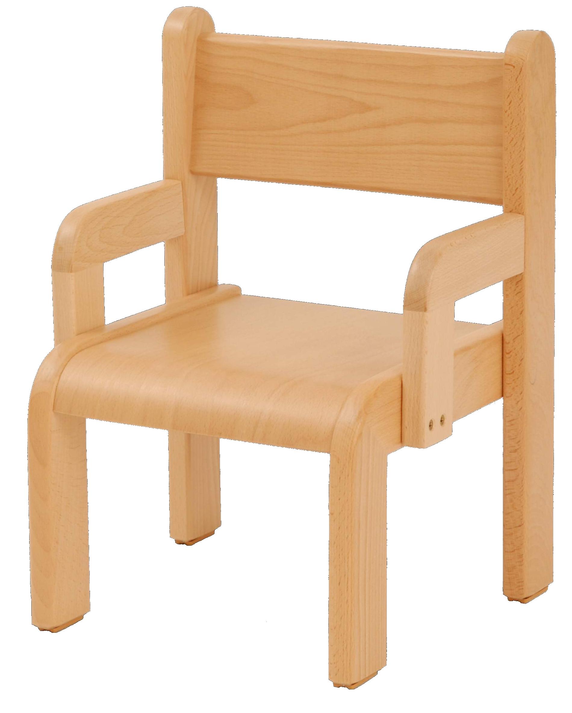 Dětská židlička s područkou 18 cm DE přírodní
