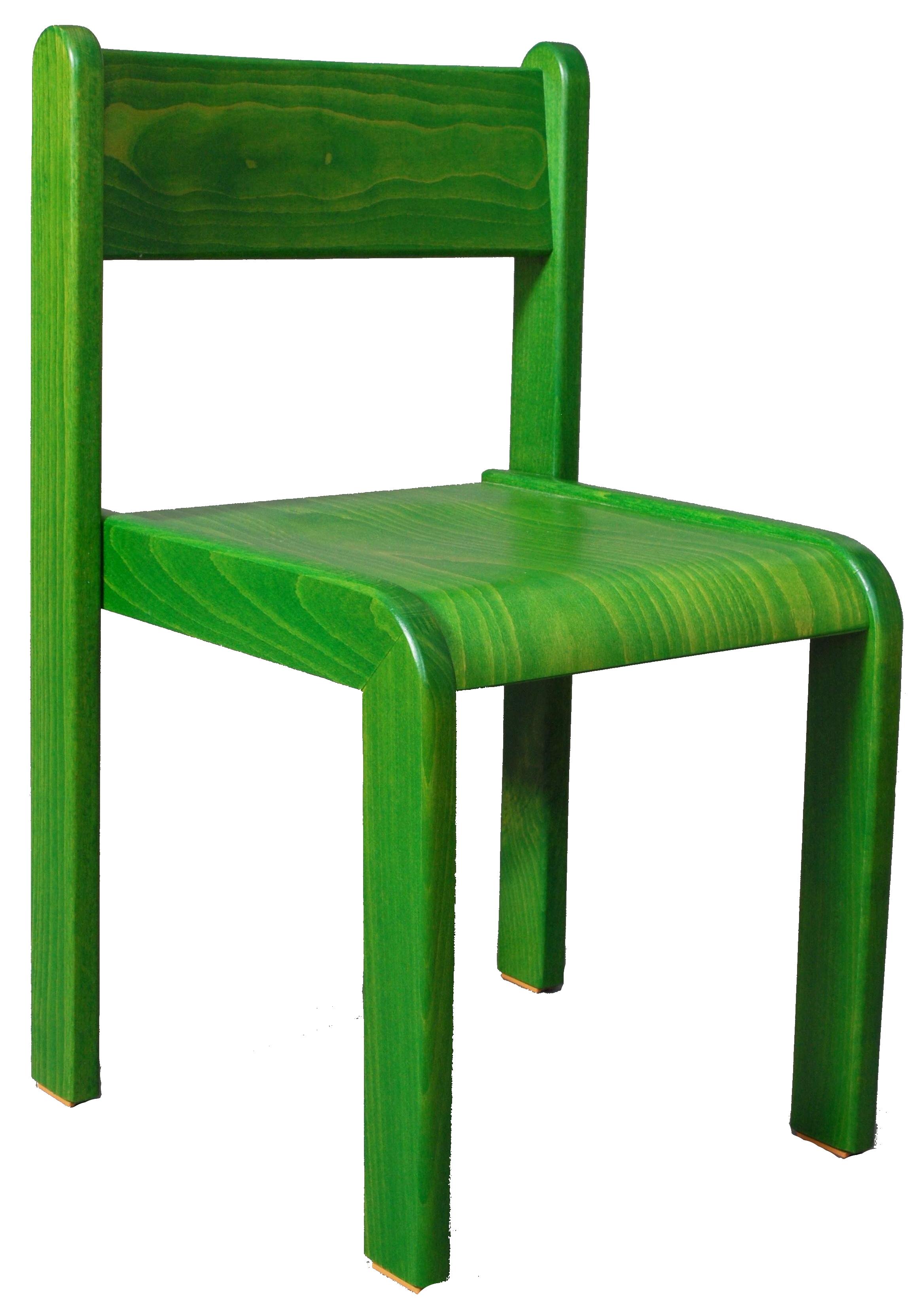 Dětská židlička bez područky 18 cm DE mořená - zelená